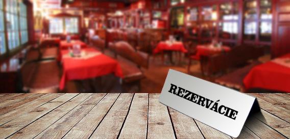 Rezervácie stolov